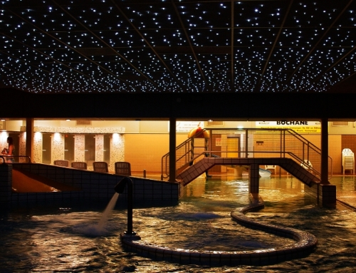 Starry sky swimming pool