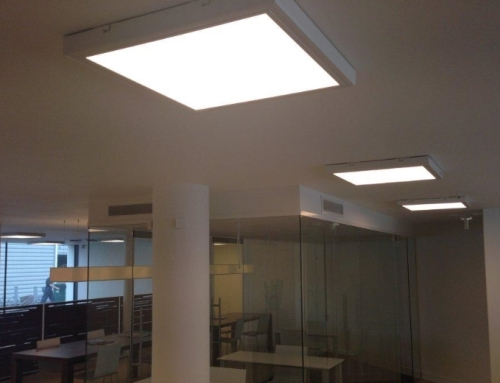 Vierkante LED panelen opbouw
